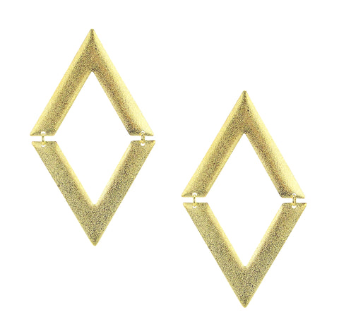 Sheila Fajl V on V Statement Dangle Earrings in Gold Plated