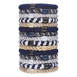 image of stacked L.Erickson Grab and Go Pony Tube Hair Ties in Sailor 15 Pack