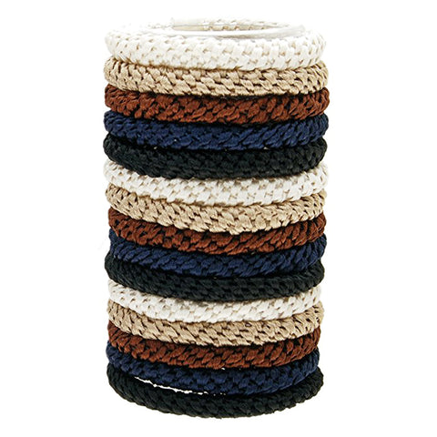 L.Erickson Grab and Go Pony Tube Hair Ties in Neutral 15 Pack