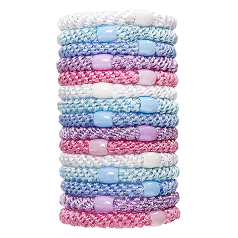 L.Erickson Grab and Go Pony Tube Hair Ties in Pastel 15 Pack
