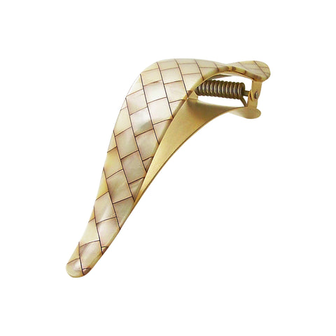 Ficcare Maximas Hair Clip in Shell Acetate and Gold Plated