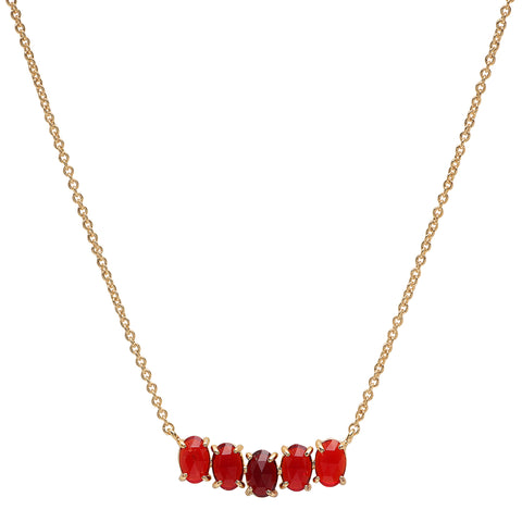 Tai Cluster Birthstone Pendant Necklace in 14k Gold Plated