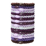 image of L.Erickson Grab and Go Pony Tube Hair Ties in Grape Mix 15 Pack