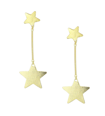 Sheila Fajl Vela Statement Dangle Star Earrings in Gold Plated