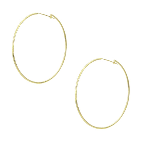 Sheila Fajl Lisa Featherweight Hoop Earrings in Gold