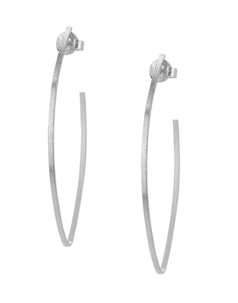 image of Sheila Fajl Peter V Hoop Earrings in Silver Plated