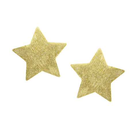Sheila Fajl Lana Star Stud Earrings in Brushed Gold Plated