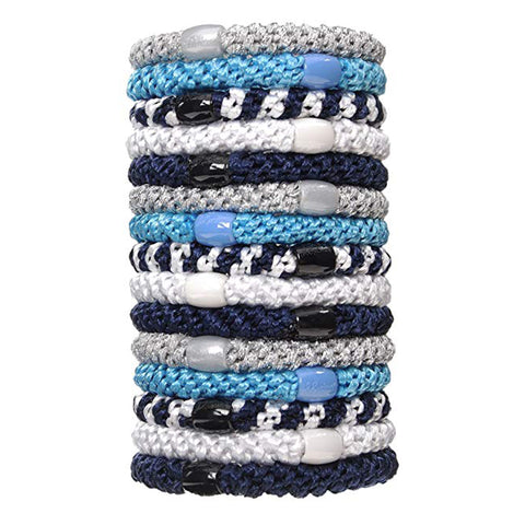 L.Erickson Grab and Go Pony Tube Hair Ties in Nautilus 15 Pack