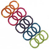 overhead image of L. Erickson Grab and Go Pony Tube Hair Ties in Candy Pack 15 Pack
