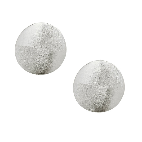 image of Sheila Fajl Blair Disc Stud Earrings in Silver Plated