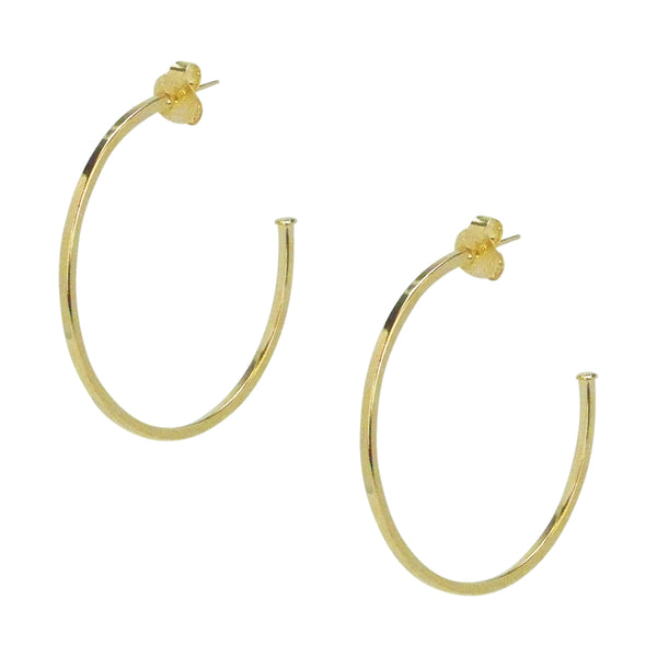 image of Sheila Fajl Perfect Hoop Earrings in Polished Champagne