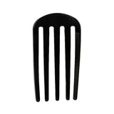 image of France Luxe Classic Five Tooth Chignon Hair Comb in Black