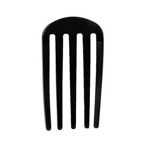 France Luxe Classic Five Tooth Chignon Hair Comb in Black