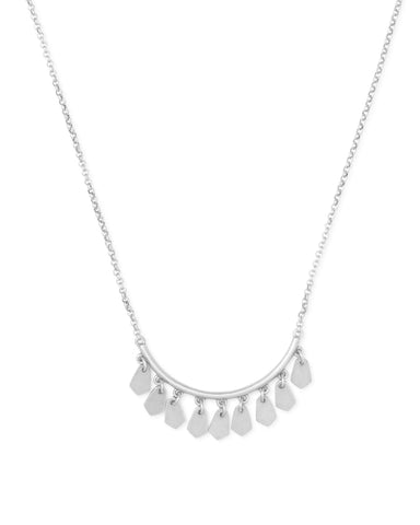 Kendra Scott Sydney Short Pendant Necklace in Rhodium Plated