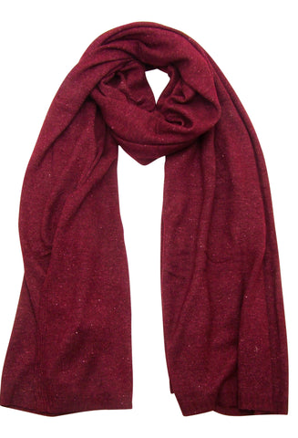 Blue Pacific Cashmere and Wool Blanket Scarf in Burgundy