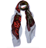 Blue Pacific Micromodal Vintage Vineyard Wine Time Tapestry Scarf