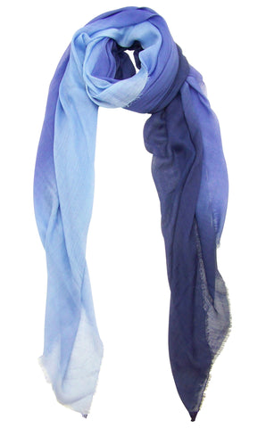 Blue Pacific Dream Cashmere and Silk Scarf in Persian Violet Blue