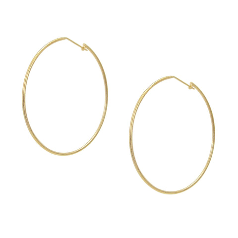 Sheila Fajl Lisa Featherweight Hoop Earrings in Champagne