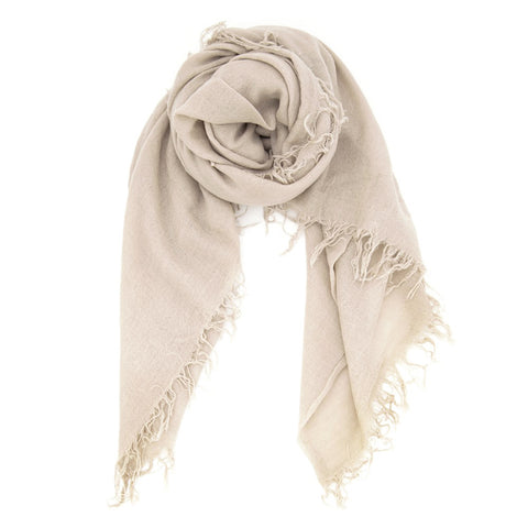 Chan Luu Cashmere and Silk Solid Scarf in Doeskin