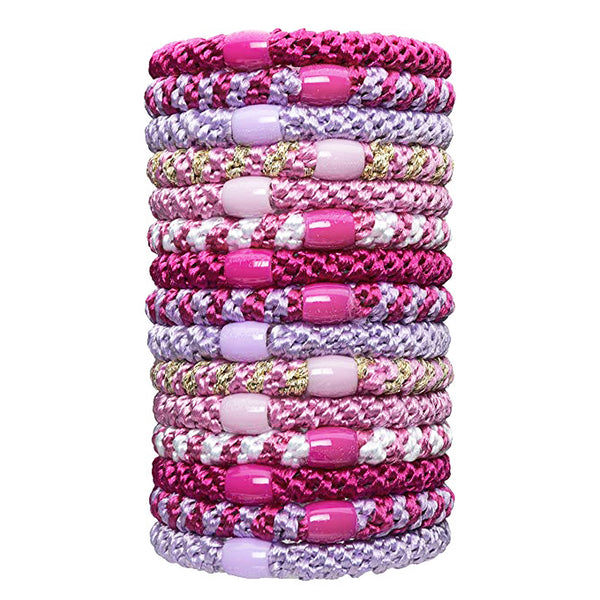 image of L.Erickson Grab and Go Pony Tube Hair Ties in Flora 15 Pack