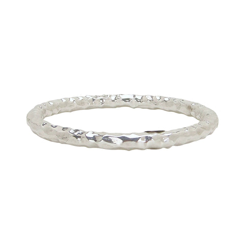 Simon Sebbag Hammered Bangle Bracelet in Sterling Silver