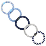 image of variations for L. Erickson Grab and Go Pony Tube Hair Ties in Sparkle Mix 15 Pack