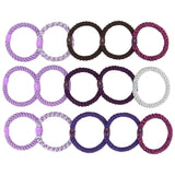 overhead image for L.Erickson Grab and Go Pony Tube Hair Ties in Grape Mix 15 Pack