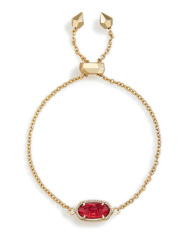 Kendra Scott Elaina Chain Bracelet in Oval Berry Clear and Gold