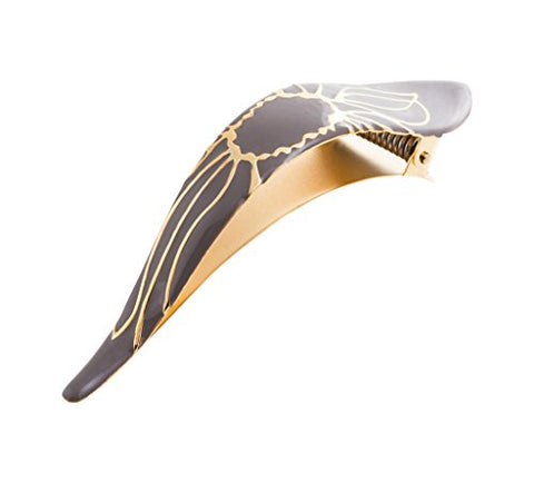Ficcare Maximas Hair Clip in Lotus Sahara Stone and Gold