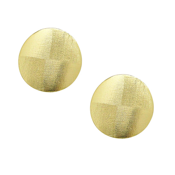image of Sheila Fajl Blair Disc Stud Earrings in Gold Plated