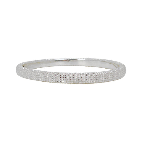 Simon Sebbag Lattice Style Sterling Silver Bangle Bracelet