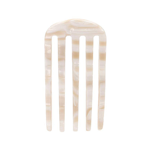France Luxe Classic Five Tooth Chignon Hair Comb in Alba