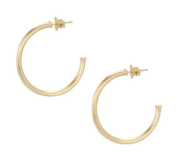 image of Sheila Fajl Petite Favorite Hoop Earrings in Champagne