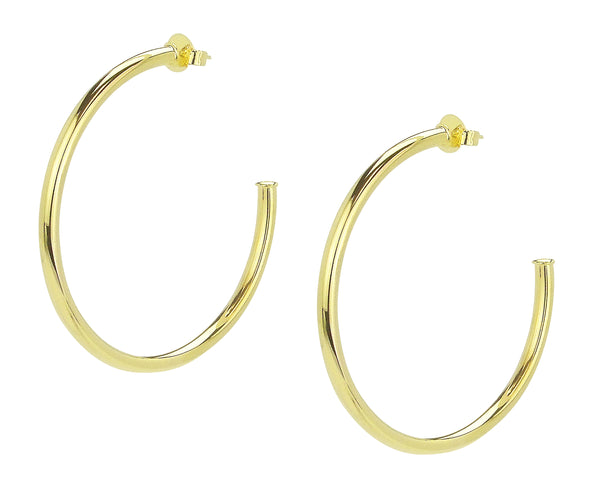 Pair of Sheila Fajl Everybody's Favorite Hoop Earrings in Polished Gold