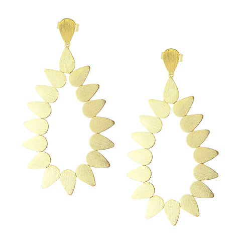 Sheila Fajl Livia Open Teardrop Statement Earrings in Gold Plated