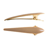 Ficcare Mini Maximas Hair Clip Pair in Sahara Sand Enamel and Gold