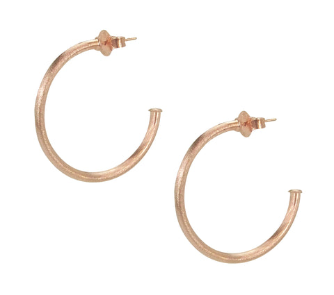 Sheila Fajl Petite Favorite Hoop Earrings in Rose Gold Plated