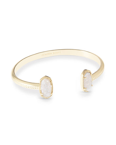 Kendra Scott Elton Open Bangle Bracelet in Iridescent Drusy and Gold