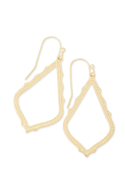 Pair of Kendra Scott Sophia Open Teardrop Dangle Earrings in Gold Plated