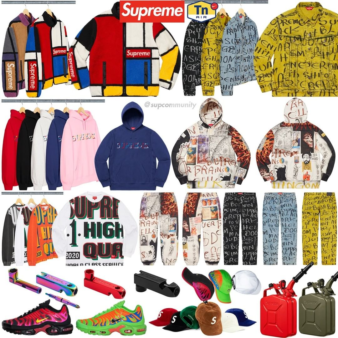 Supreme Week 8 Retail Prices and Droplist (FW20)