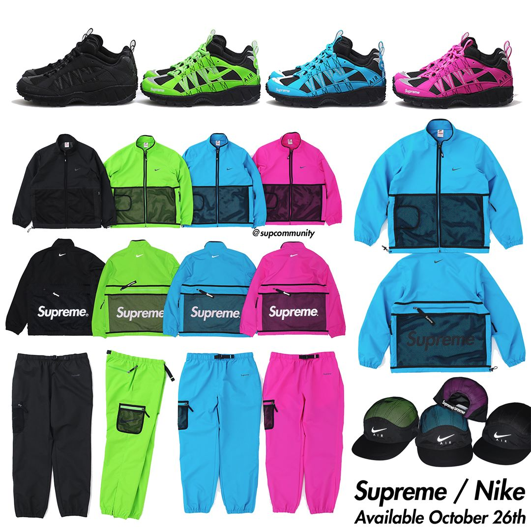 Supreme Week 10 FW17 Retail Prices & Droplist (Nike x Supreme)