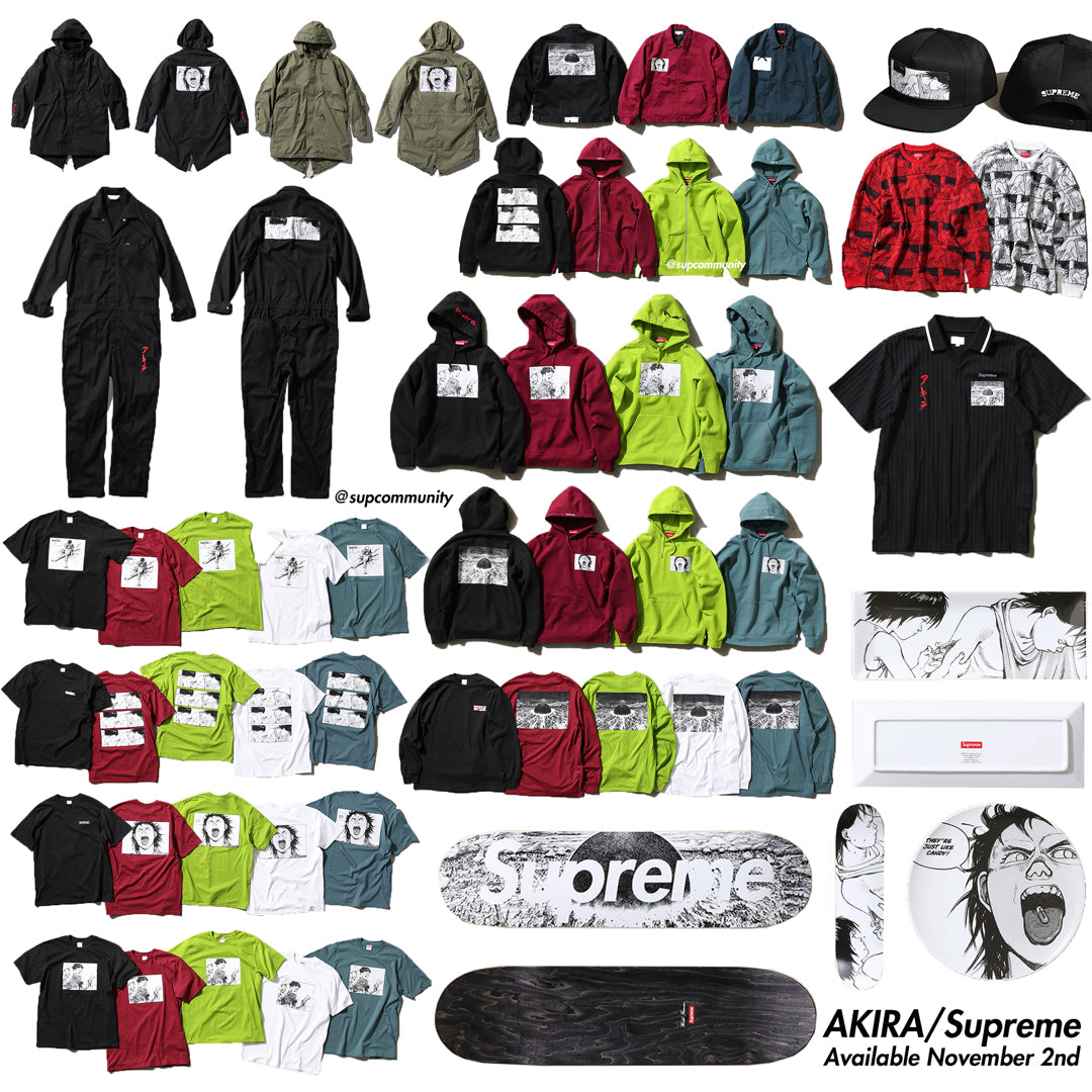 Supreme Week 11 FW17 Retail Prices & Droplist (Akira x Supreme)