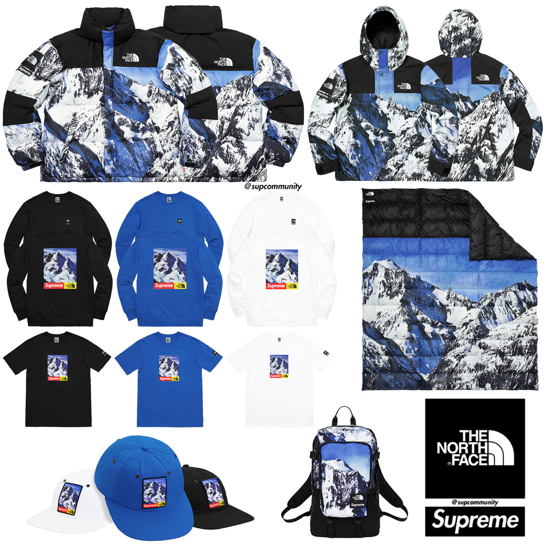 Supreme Week 15 FW17 Retail Prices & Droplist (North Face x Supreme)