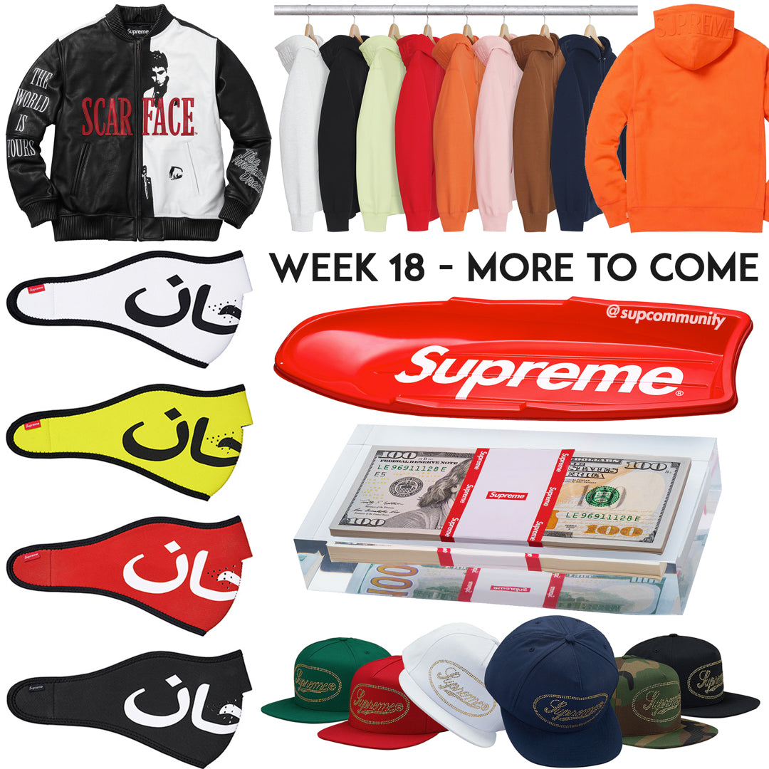 Supreme Week 18 Retail Prices & Droplist (FW17)