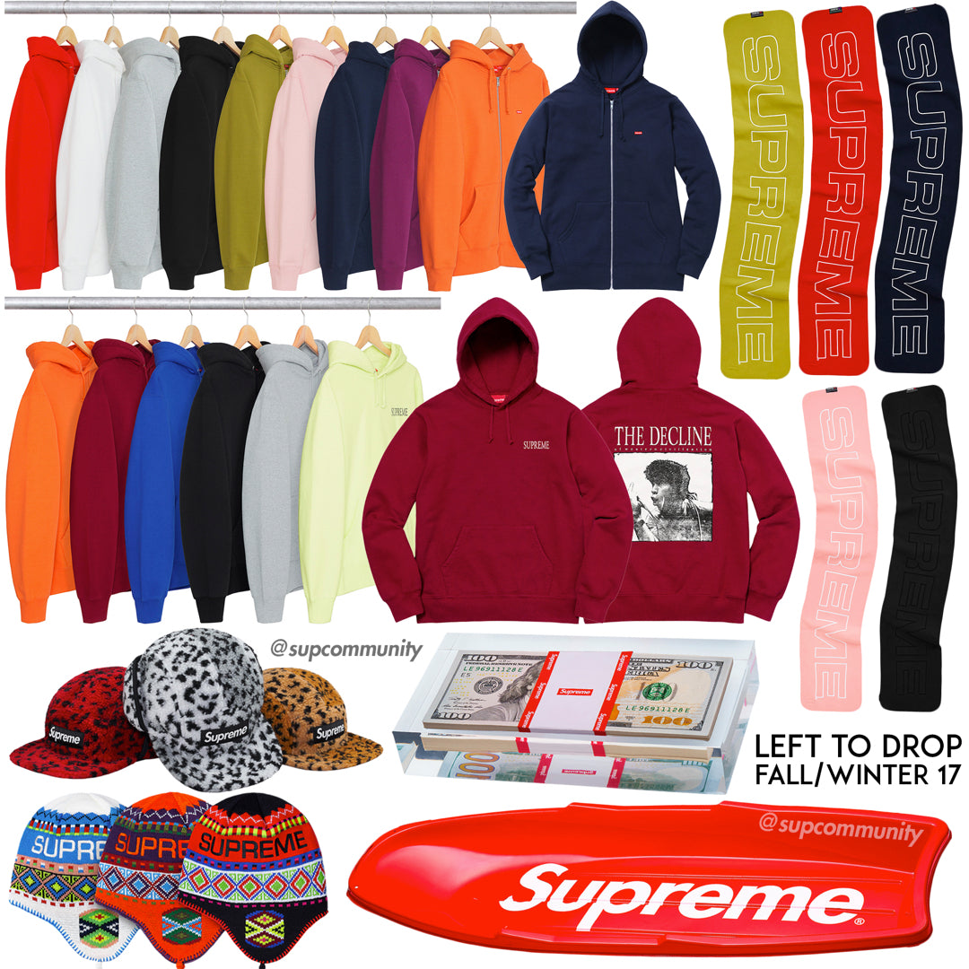 Supreme Week 19 Retail Prices & Droplist (FW17)