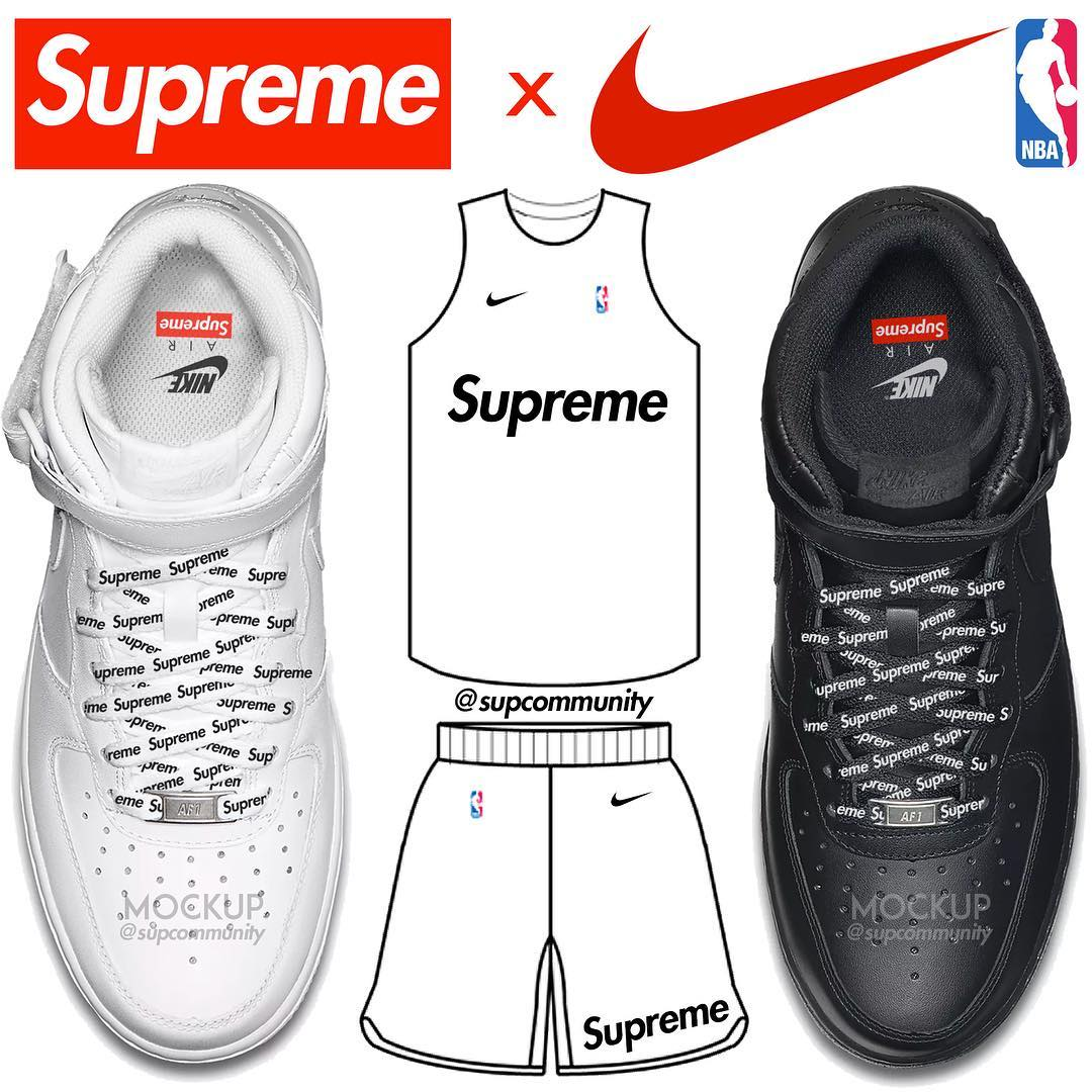 d48883d5cace Supreme x NBA x Nike for SS18 (Estimated Retail Prices)
