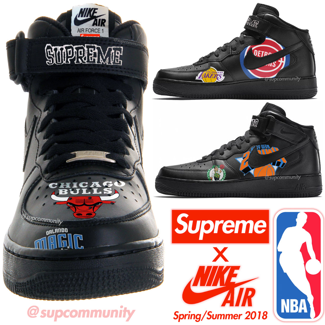 sports shoes 54ca8 a3609 Supreme x NBA x Nike AF1 Mid Releasing SS18 (Leak)