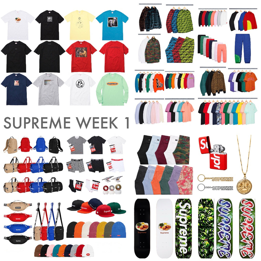 Supreme Week 1 Retail Prices & Droplist (SS18)