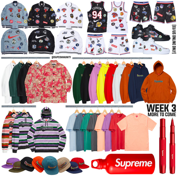 Supreme Week 3 Retail Prices and Droplist (SS18) - NBA x Nike Collaboration
