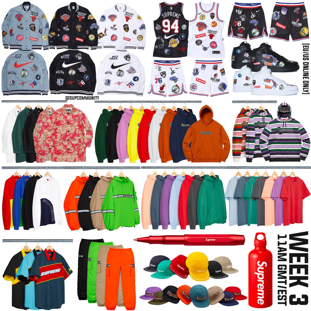Supreme Setup Guide & Keywords Week 3 SS18 (NBA x Nike)